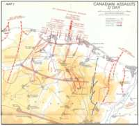 D-Day Canadian Assaults Map