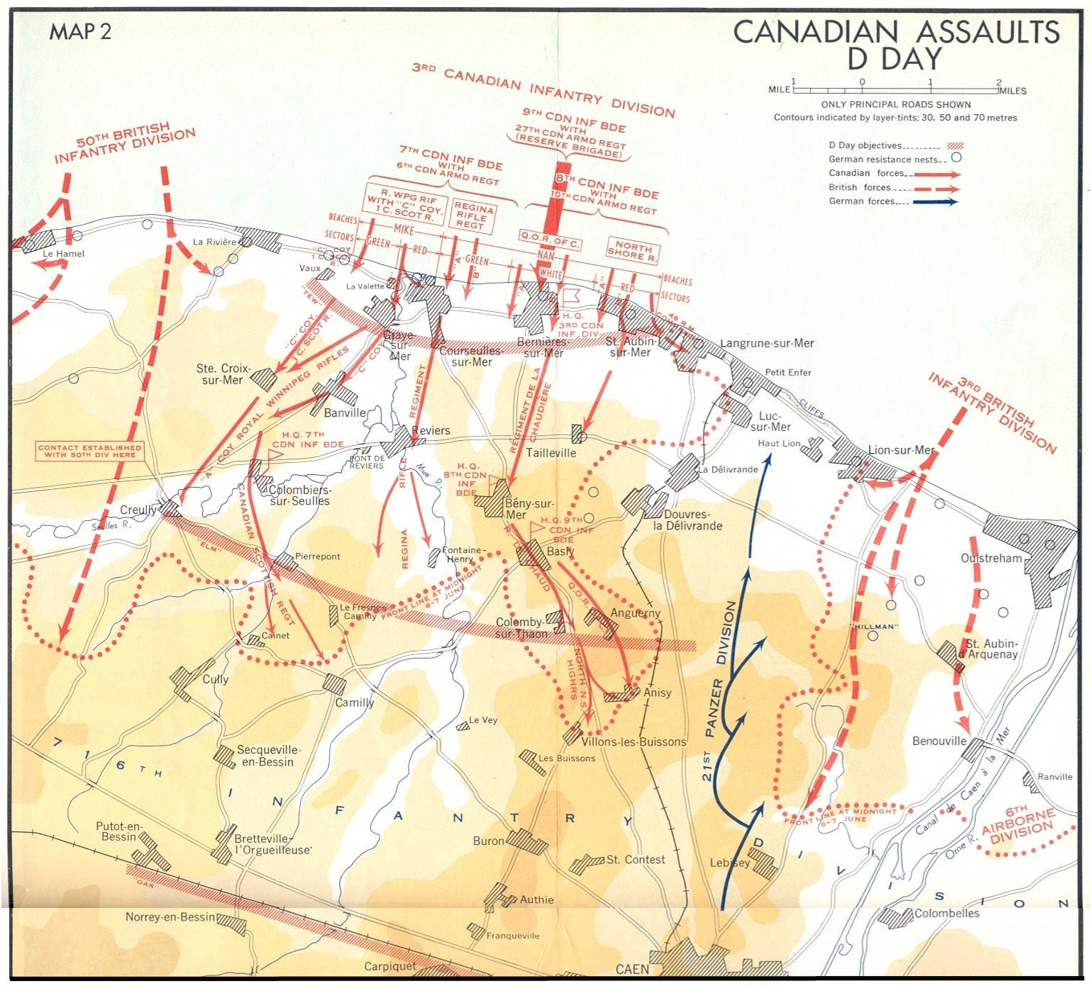Map Of Normandy France Detailed.Juno Beach Maps